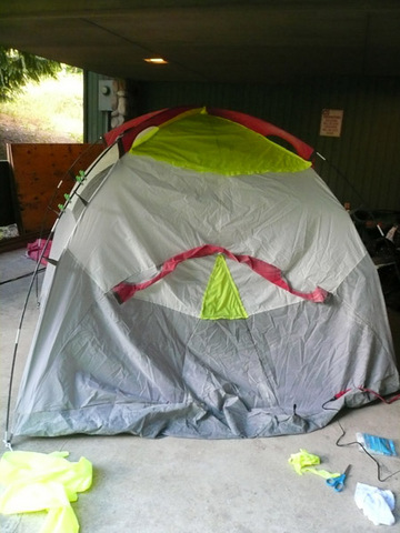 Sealed tent